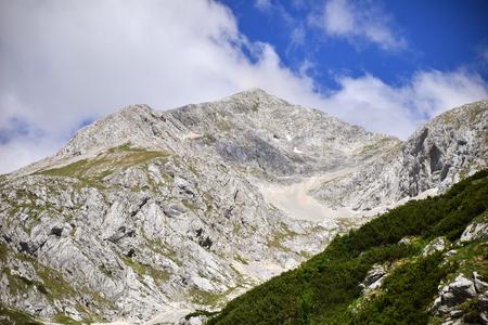 Kokrsko saddle with Grintovec mountain, Slovenia Stock Photo - 92727930