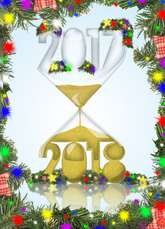New year in hourglass