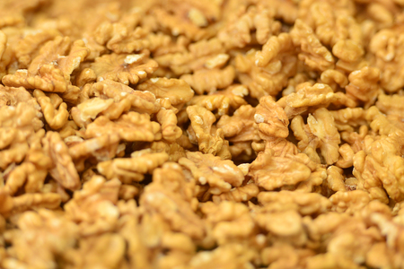 Dried walnuts background