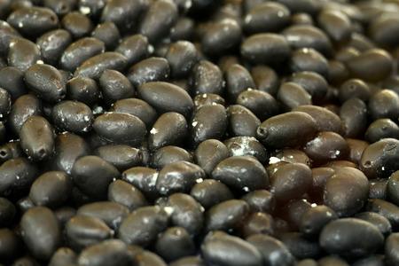 Black olives background