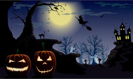 mortality: halloween night Illustration