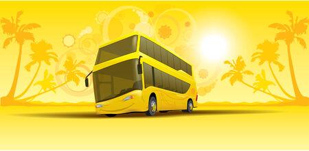 vacation summer bus Vector