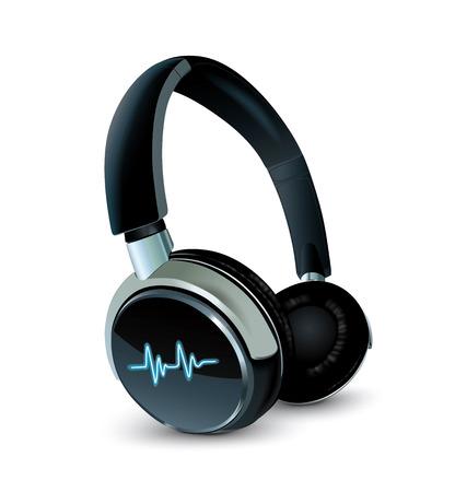 casque audio: Vecteur �couteurs