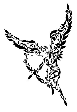 godly: Cupid with a bow and arrow
