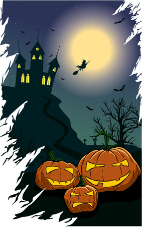 mortality: spooky pumpkins on a halloween night