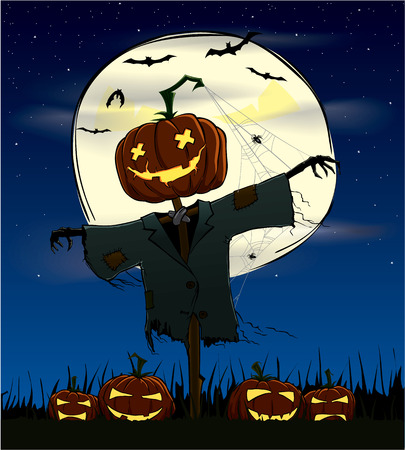 mortalidad: Spooky calabazas en una noche de halloween