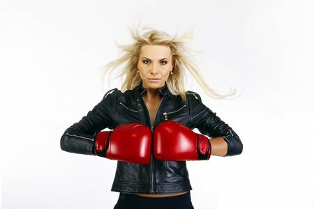 beautiful boxing woman  photo