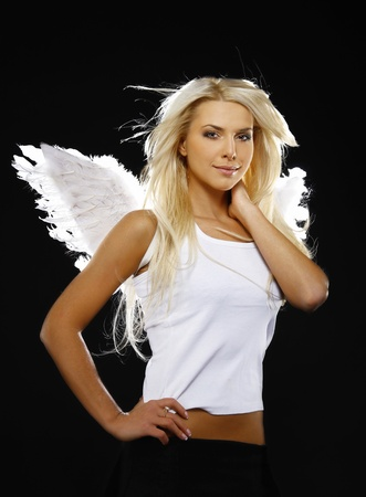 portrait of a beautiful angel girl  Stock Photo - 10689055