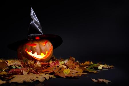 helloween: Halloween pompoen Stockfoto