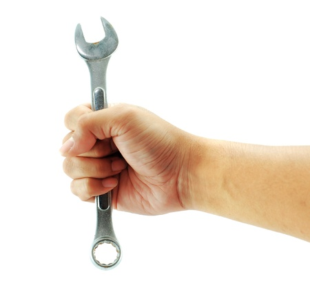 spanners: Hand screwdriver for engineer work Stock Photo