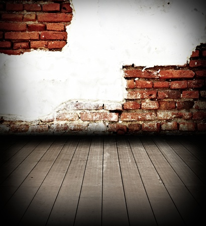 Old brick backgrounds texture grunge in old city Thailand