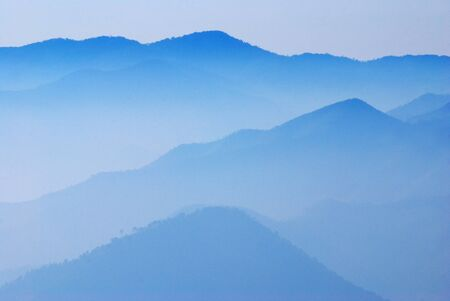 Mountain blue sky nature forest abstract light hill photo