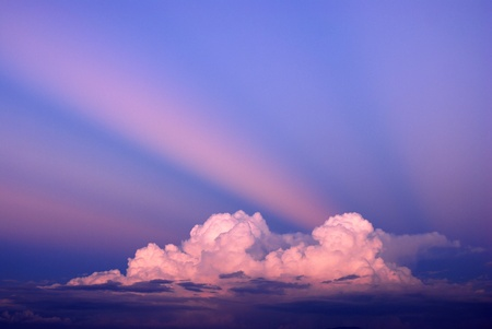 Sky background landscape beams beam cloud light Stock Photo