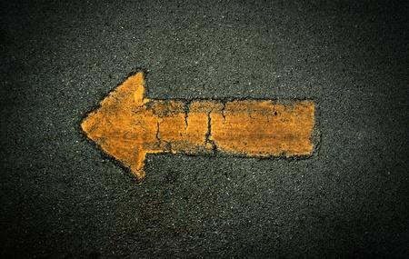Arrow sign symbol background yellow texture photo