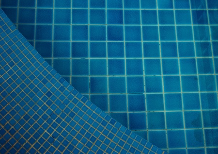 clear water in the swimming pool blue bright photo