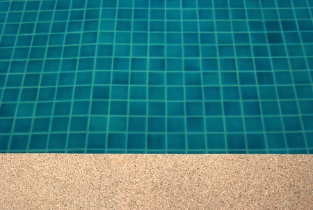 clear water in the swimming pool blue bright
