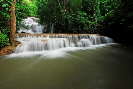 waterscape: Waterfall and blue stream in the forest Thailand