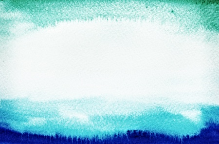 Blue and Green watercolor for design texture and background Stock Photo