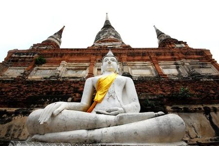 veneration: Buddha Ayutthaya in Thailand Stock Photo
