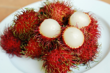 Rambutan in Thailand  Stock Photo