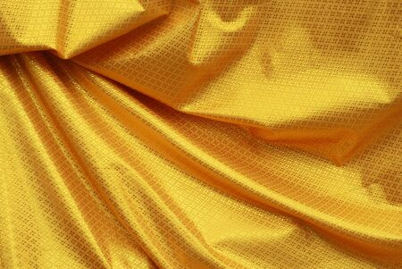 Yellow Fabric in Thailand photo