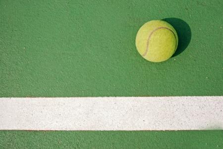 Tennis bal in het spel Stockfoto