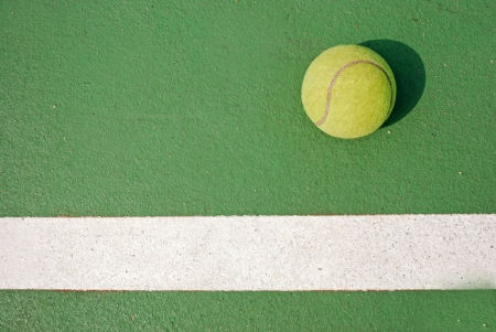 Tennis ball in the game Stock Photo