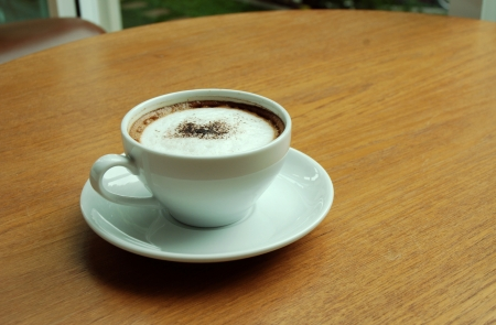 White cup coffee photo