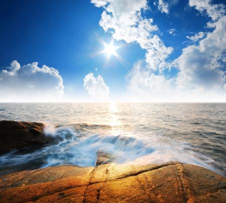 zand zee zon strand blue sky thailand landschap natuur perspectief achtergrond park buiten voor het ontwerp briefkaart voor kalender