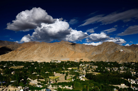 leh: Landscape view of Leh Ladakh, Northern India. Stock Photo