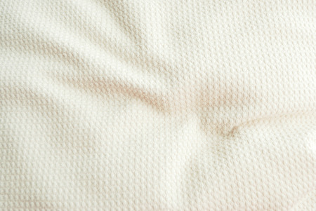 White cutton fabric texture background for pattern design
