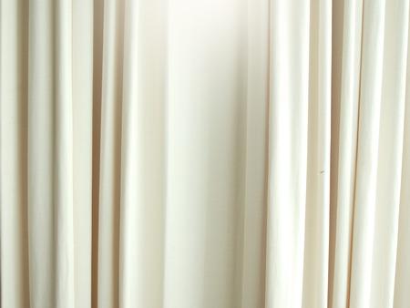 Wit gordijn textuur achtergrond patroon voor design