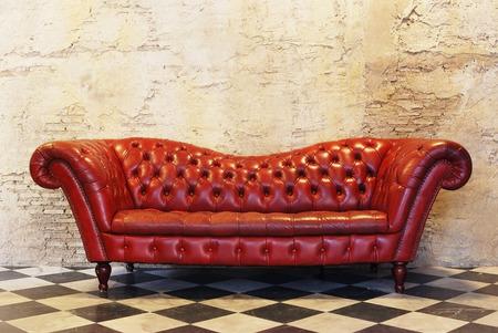 Sofa vintage background for vintage interior design Stock Photo