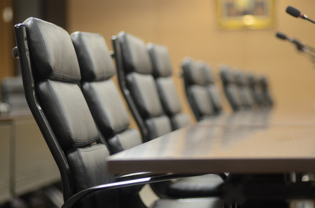 Vergaderzaal voor bedrijfsconcept en ontwerp Stockfoto