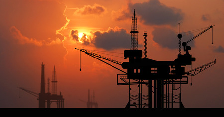 energy industry: Oil rig platform on the sea for energy industry