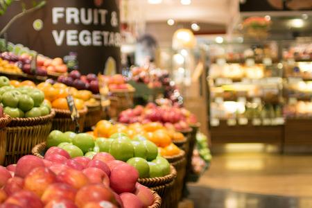 Supermarkt, groenten en fruit zone
