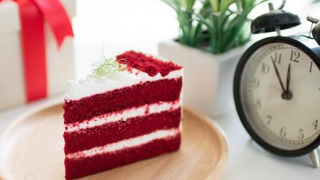 Aardbeienroodcake Dessert voor ontspanningstijd
