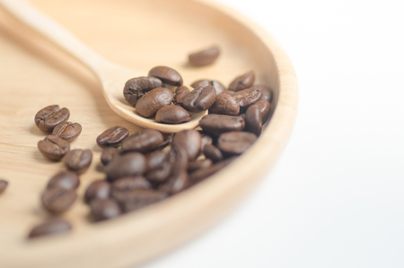 Coffee bean seed raw material for coffee drink Imagens