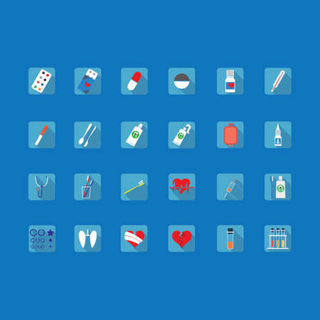 nasal drops: colorful icons of medical subjects on the dies for the Internet