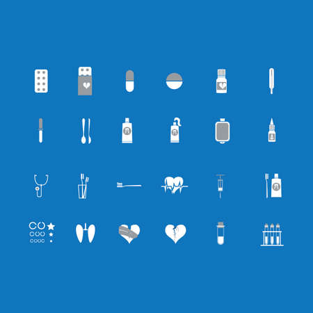 nasal drops: the informative set of vector icons of medical subjects for website, magazine Illustration