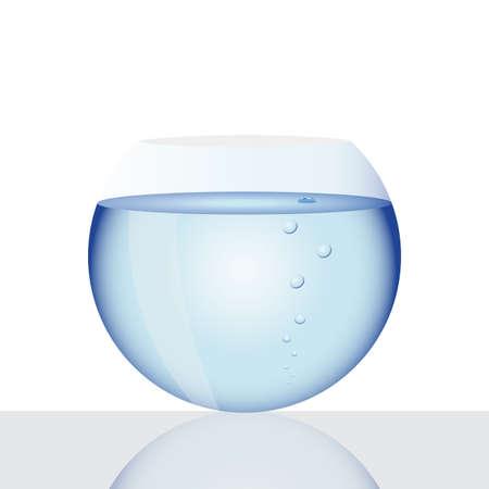 tank fish: vector image of fish tank, illustration