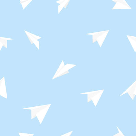 paper airplane: seamless pattern paper airplane vector illustration Illustration
