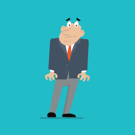 terror: businessman. the emotions of fear, terror, surprise. vector illustration of cartoon Illustration