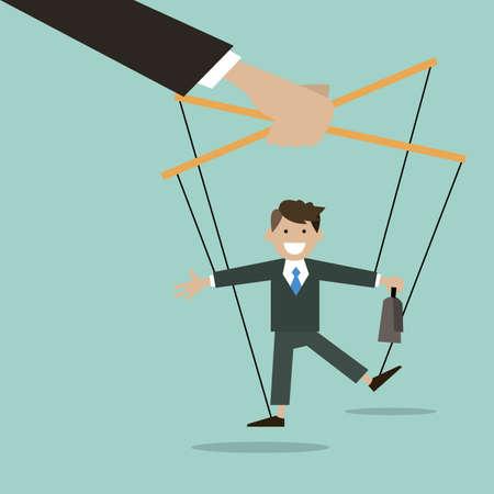Le concept d'entreprise est le marionnettiste Vecteurs