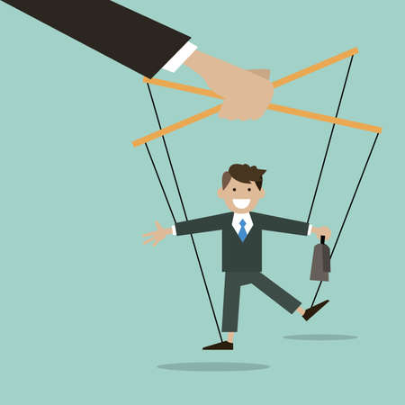The business concept is the puppeteer