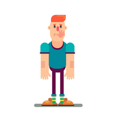 slap in the face of a man vector illustration in a flat style. Vectores
