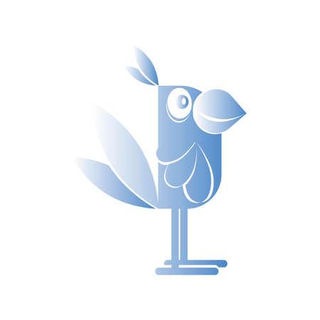 contour of a parrot not a white background Ilustração