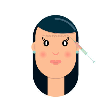 Tightening and wrinkle injection surgery vector illustration Ilustração