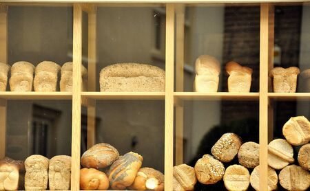 bread in a show-window Stock Photo - 14970723
