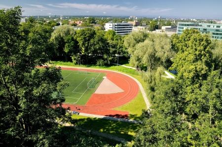 tallin: View on stadium in Tallin Stock Photo